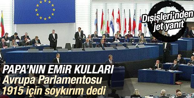 Avrupa Parlamentosu 1915 için soykırım dedi