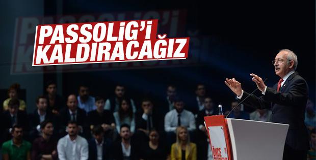 Kemal Kılıçdaroğlu Passolig'i kaldıracağını söyledi