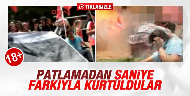Suruç'taki patlamadan son anda kurtulan iki kişi - İZLE