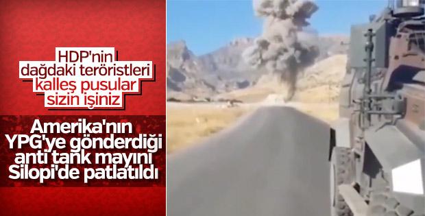 Yola tuzaklanan patlayıcı son anda fark edildi