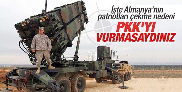 PKK vurulunca Almanya Türkiye'den patriotları çekti