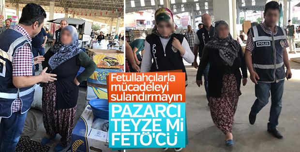 Pazarda sebze satarken FETÖ'den gözaltına alındı