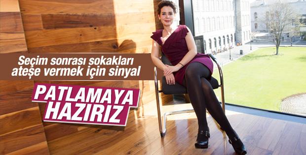 Pelin Batu'dan Gezi için patlamaya hazırız röportajı
