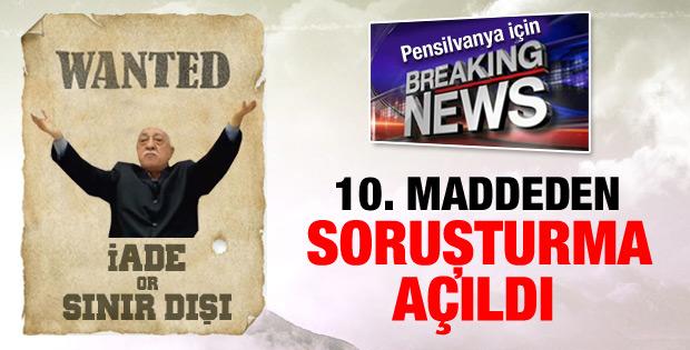 Ankara Cumhuriyet Başsavcılığı'ndan Gülen'e soruşturma