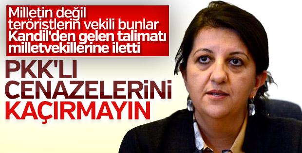 HDP'den PKK'lı teröristlerin cenazesine katılın talimatı