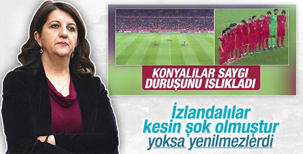 HDP'li Pervin Buldan Türkiye'nin galibiyetini gölgeledi
