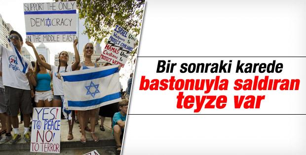 Philadelphia'da İsrail destek eylemine tepki