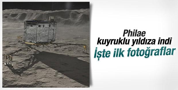 Philae uzay aracından kuyruklu yıldızın ilk fotoğrafı