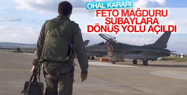 TSK'dan ayrılan pilotlara dönüş yolu resmen açıldı