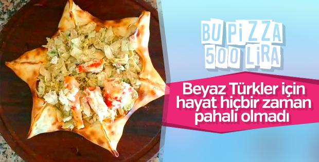 Çeşme'de satılan 500 liralık pizza