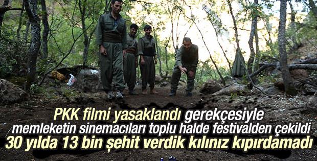 Sinemacılar PKK belgeseli için festivalden çekildi