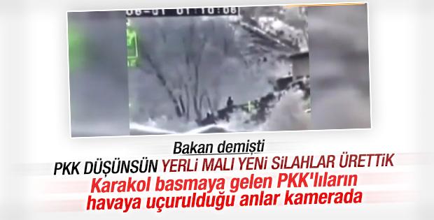 Karakol basmaya gelen PKK'lıların vurulma anı