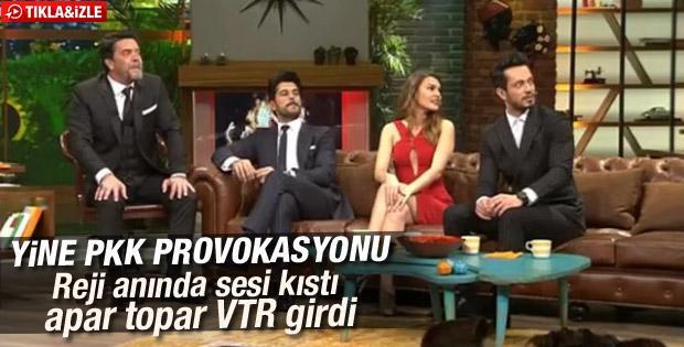 Beyaz Show'da yine PKK provokasyonu