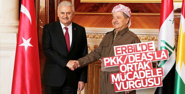 Başbakan Yıldırım ve Barzani'den ortak açıklama