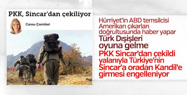 PKK Sincar'dan çekildi yalanı bir kez daha servis edildi