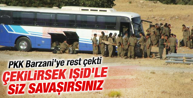 PKK'dan Barzani'ye IŞİD resti