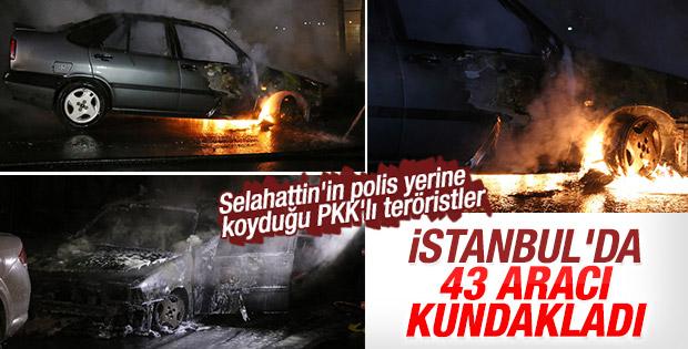 PKK'lılar İstanbul'da 43 aracı kundakladı