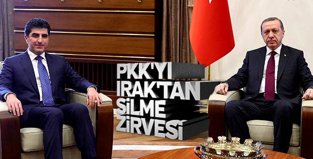Erdoğan Barzani ile görüştü
