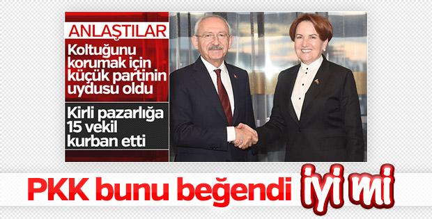 Terör örgütü PKK, CHP-İP ittifakından memnun