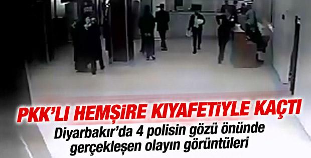 PKK'lının hastaneden kaçış görüntüleri