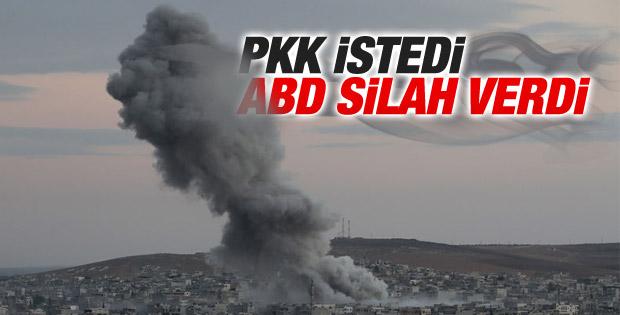 ABD Kobani'de PYD'ye silah yardımı yaptı
