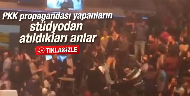 Beyaz Show'da PKK provokasyonunun stüdyo görüntüsü