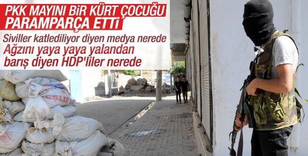 Diyarbakır'da PKK'dan bombalı saldırı: 1 çocuk öldü