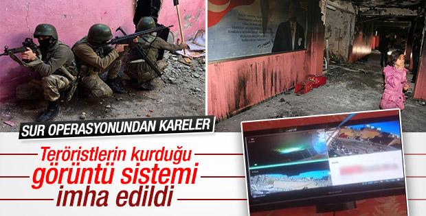 Diyarbakır'da PKK'nın görüntü izleme merkezi çökertildi