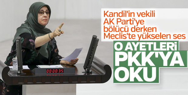 Ayet okuyan HDP'li Hüda Kaya'ya tokat gibi cevap