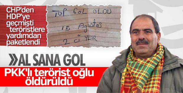 HDP'li başkanın PKK'lı oğlu öldürüldü