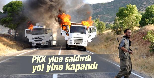 Tunceli-Erzincan yolu yeniden ulaşıma kapatıldı