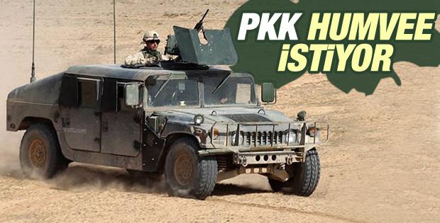 PKK Amerika'dan humvee istedi