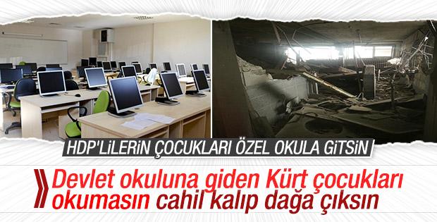 PKK'lılar modern donanımlı okulu harabeye çevirdi
