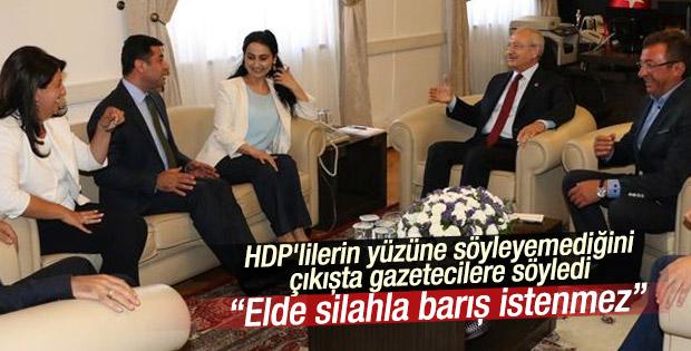 Meclis'te HDP-CHP görüşmesi