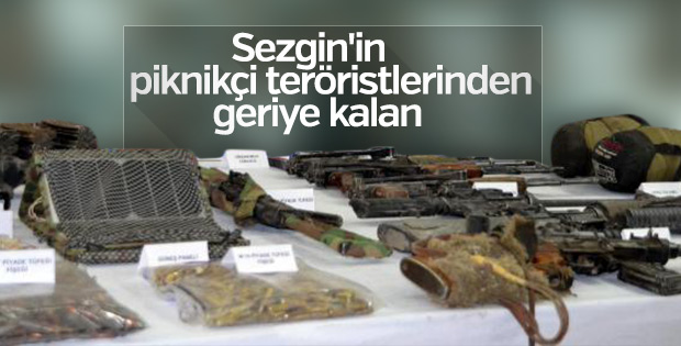 12 PKK'lının öldürüldüğü operasyonda ele geçirilenler