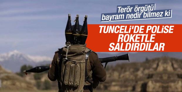Tunceli'de PKK'lılar polise roketatarla saldırdı