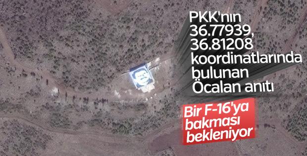 PKK'nın Öcalan anıtı F-16'ları bekliyor