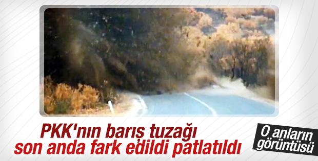 PKK'nın alçak tuzağı son anda fark edildi