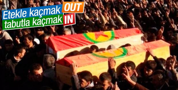 PKK yöneticisini tabutla kaçırmak istediler