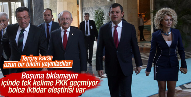 CHP Ankara saldırısını lanetledi
