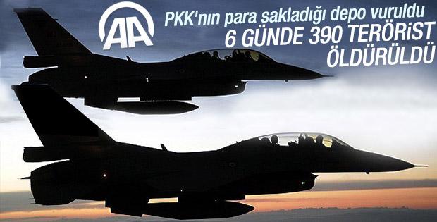 Hava harekatlarıyla 390 terörist etkisiz hale getirildi