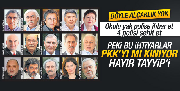 Kendisine aydın diyen ihtiyar heyeti PKK'yı kınamaz