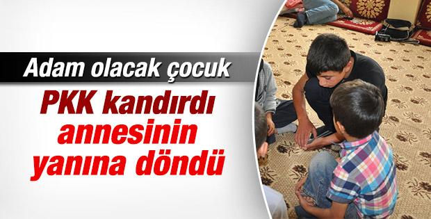 PKK'nın kaçırdığı çocuk evine döndü
