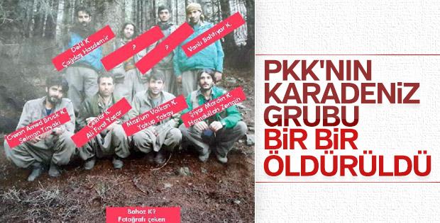 PKK'nın 22 kişilik Karadeniz grubuna darbe