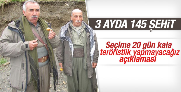 PKK eylemsizlik ilan etti