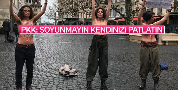 PKK'lılar çıplak eylemi anlattı