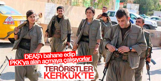 PKK'lı teröristler kaostan yararlanıp Kerkük'e girdi