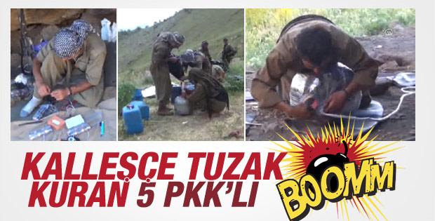 Hakkari'de 5 PKK'lı bomba yerleştirirken öldürüldü