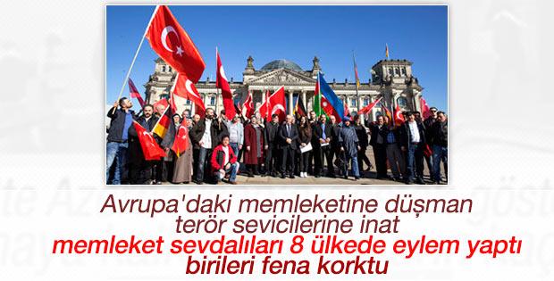 Avrupa'daki Türkler PKK yandaşlarını rahatsız etti