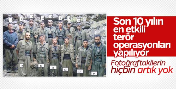 Fotoğraftaki PKK'lı teröristlerin tamamı öldü